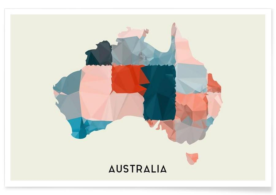 Cartes de pays, Australia affiche