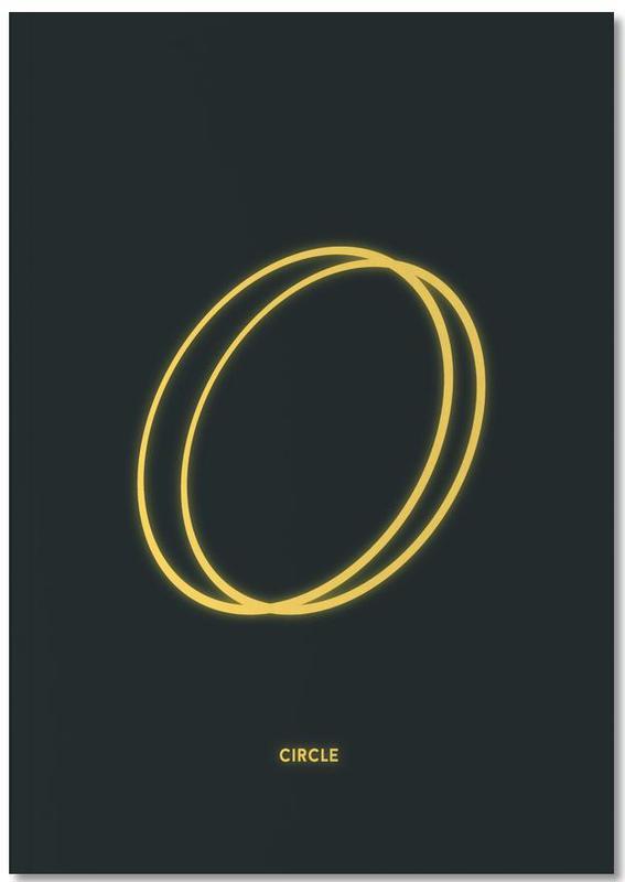 Neon Circle Notebook