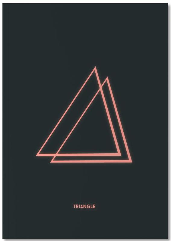 Neon Triangle Notebook