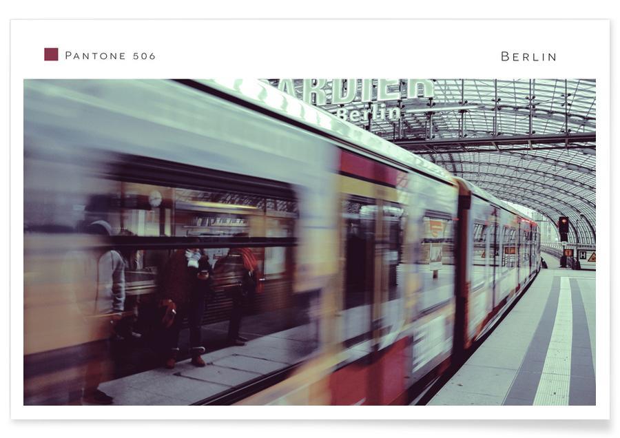 Züge, Berlin, Architekturdetails, Berlin 506 -Poster