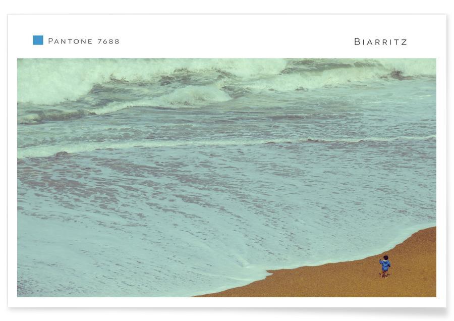 Beaches, Surfing, Travel, Biarritz 7688 Poster