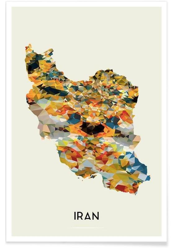 Cartes de pays, Iran affiche