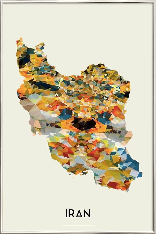 Iran Poster in Aluminium Frame
