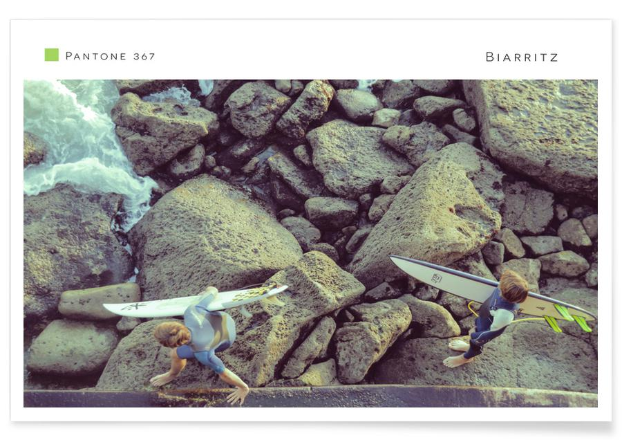 Surfing, Travel, Biarritz 367 Poster