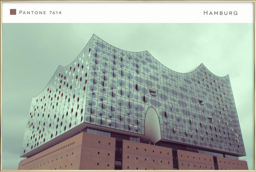 Hamburg 7614 Poster in Aluminium Frame