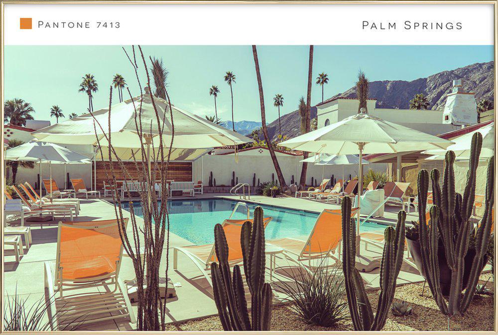 Palm Springs 7413 Poster in Aluminium Frame