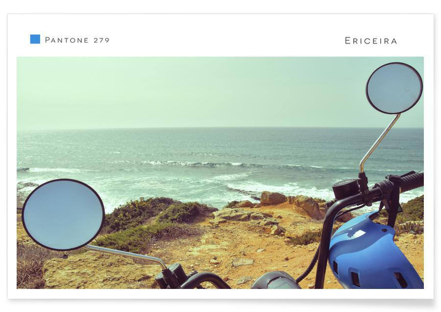 Ozeane, Meere & Seen, Reise, Motorräder, Ericeira -Poster