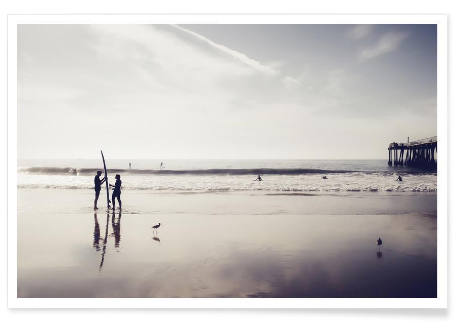 Surfing, Beaches, California Love Poster