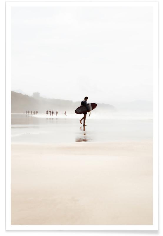 Surfen, Stranden, Focus poster