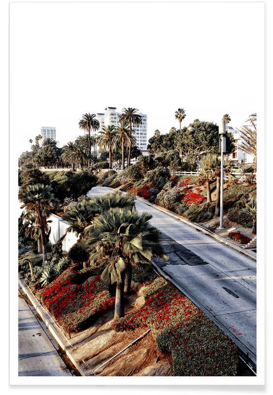 Los Angeles, Palmiers, Santa Monica Red affiche