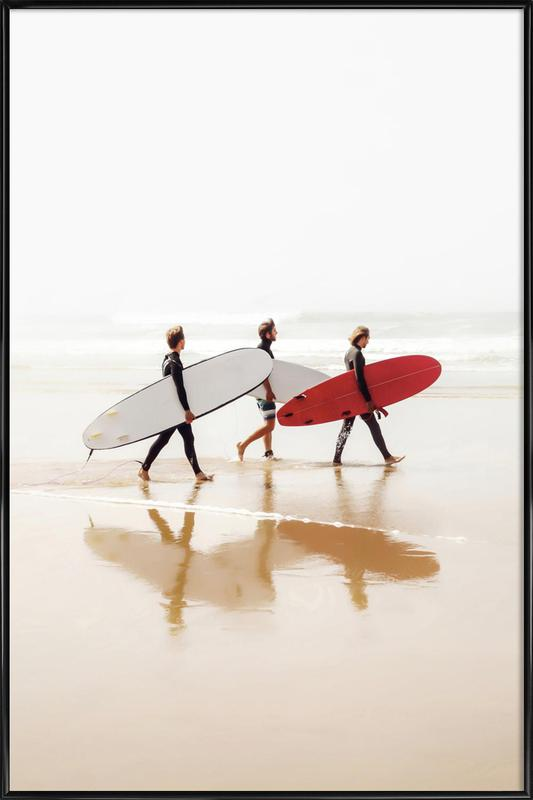 Surf Triple 2 Framed Poster