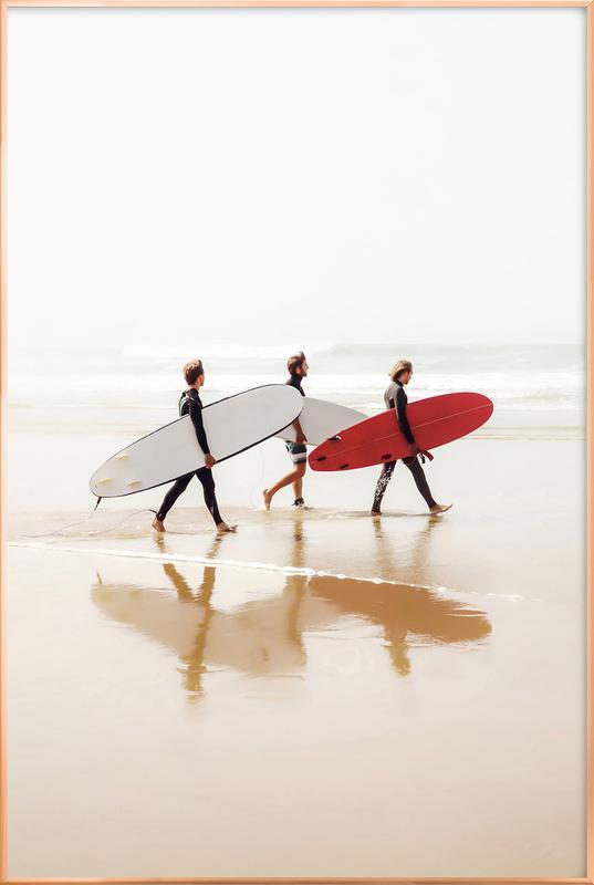 Surf Triple 2 Poster in Aluminium Frame