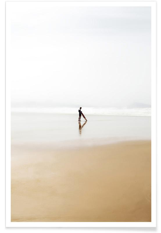 The Lone Surfer Poster