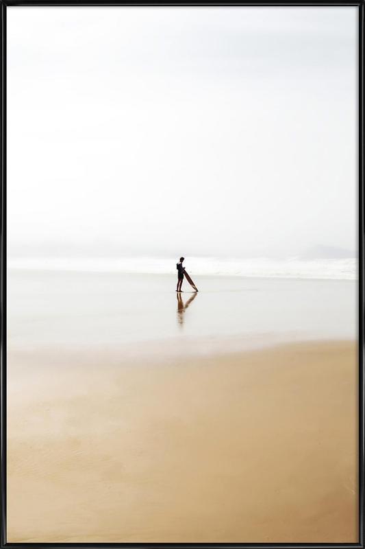The Lone Surfer Framed Poster