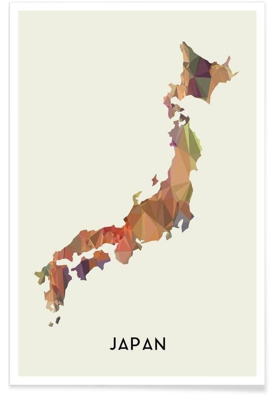 Cartes de pays, Japan affiche