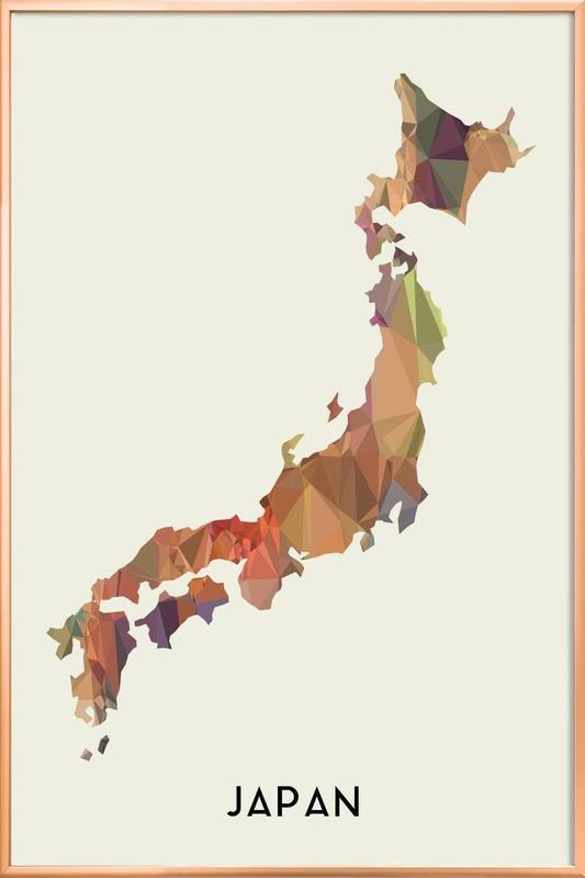 Japan Poster in Aluminium Frame