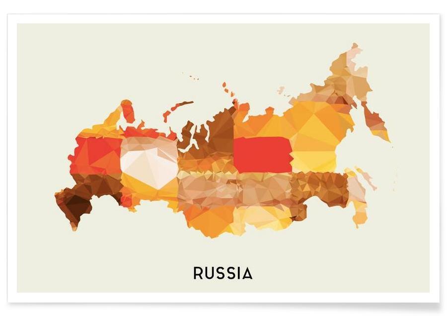 Cartes de pays, Russia affiche
