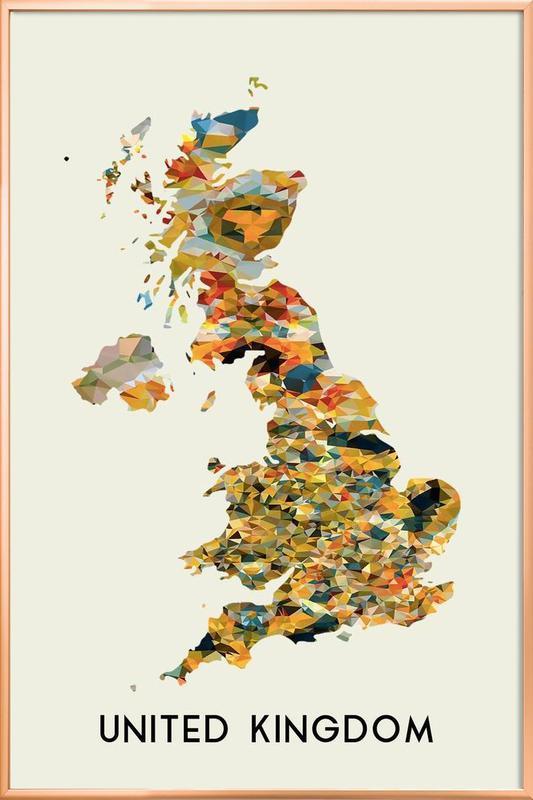 United Kingdom Poster in Aluminium Frame