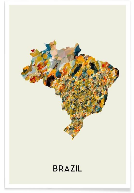 Cartes de pays, Brazil affiche