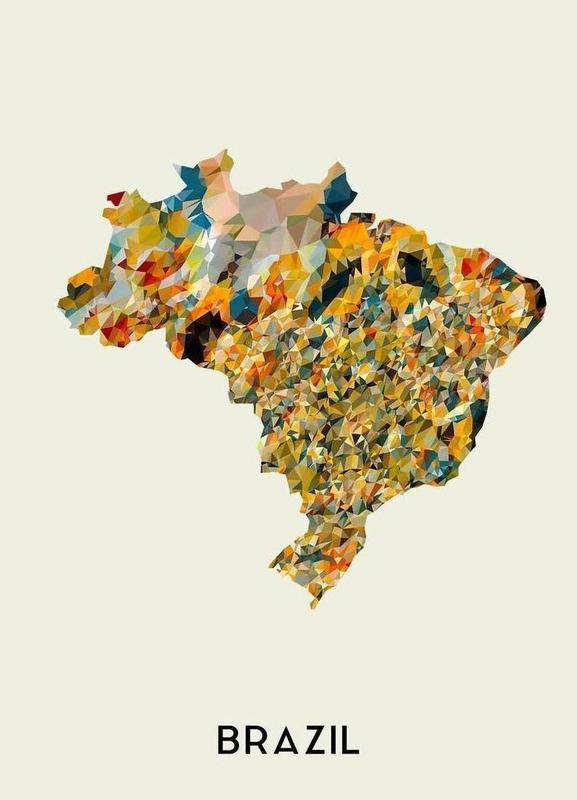 Brazil canvas doek