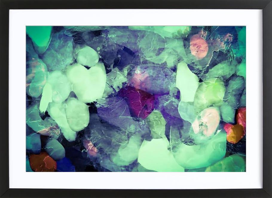 Green Ice Framed Print