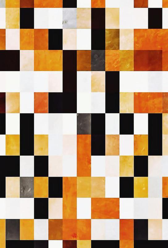 Orange Squares -Acrylglasbild
