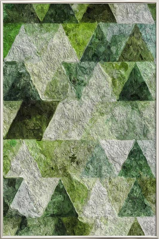 Triangles Poster in Aluminium Frame