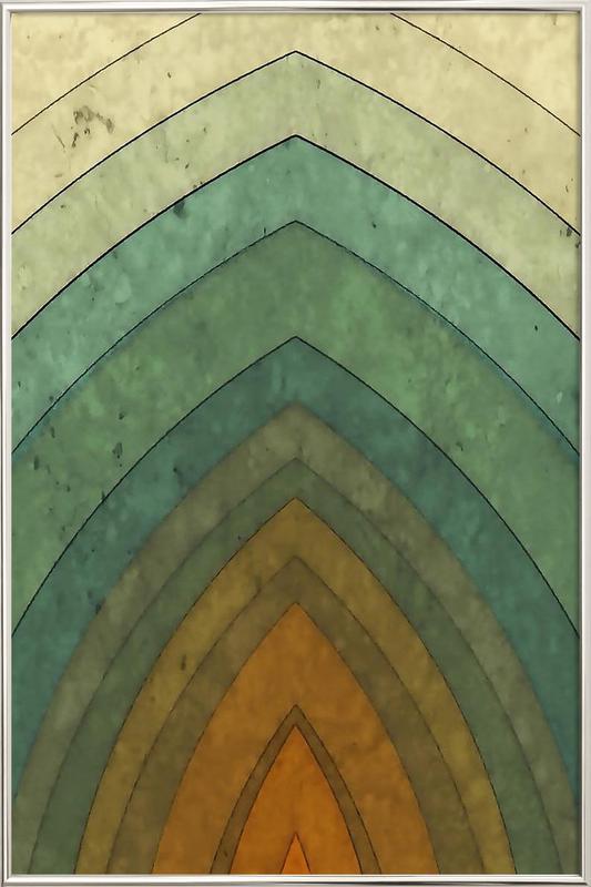 Vintage Surf No. 1 Poster in Aluminium Frame