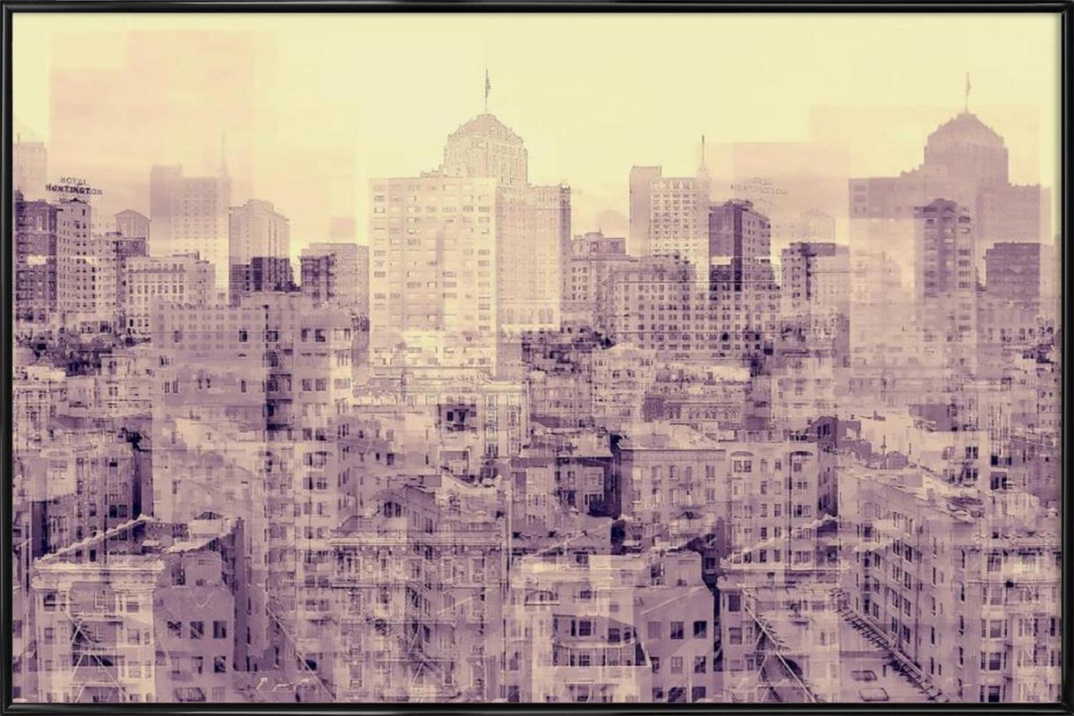 Ghost City ingelijste poster