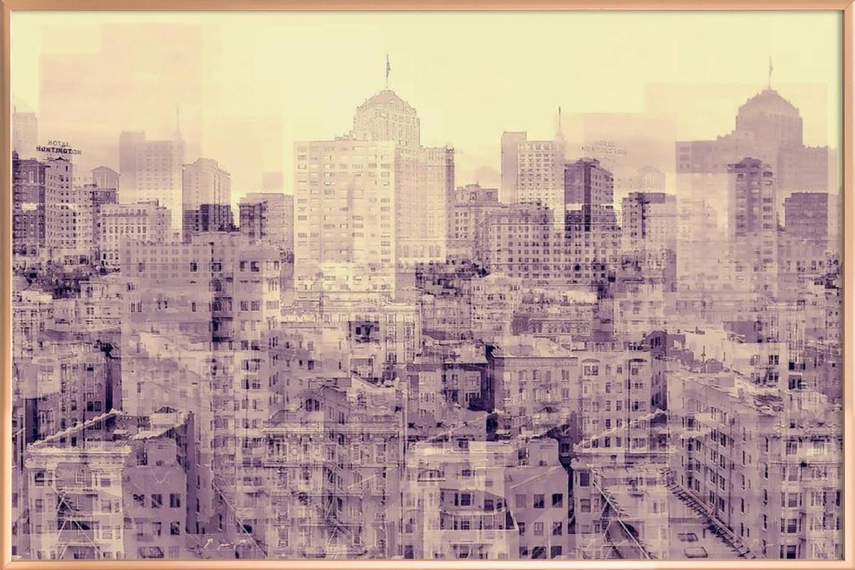 Ghost City poster in aluminium lijst
