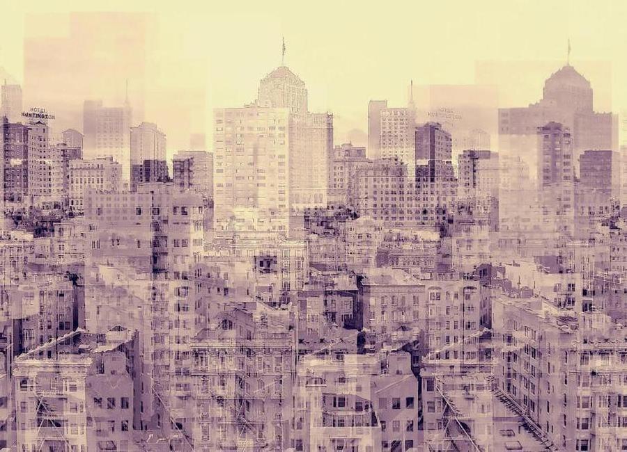 Ghost City -Leinwandbild
