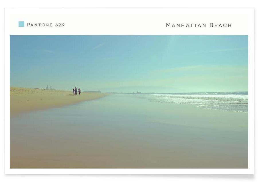 Plages, Manhattan Beach Pantone 629 affiche