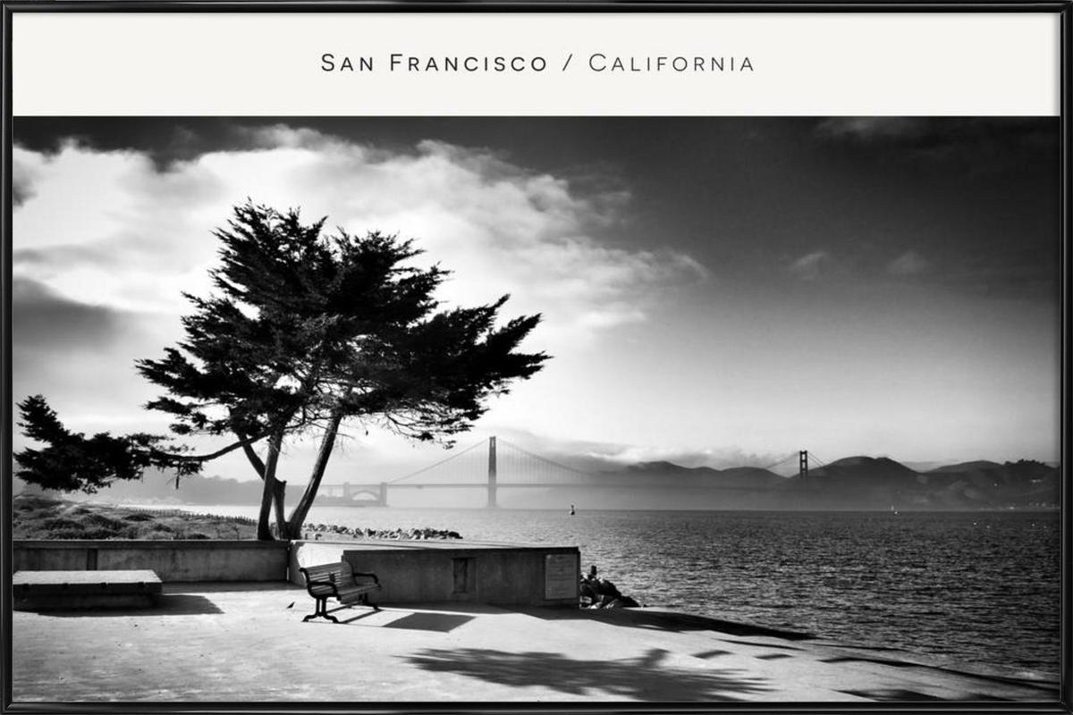 San Fransisco B&W -Bild mit Kunststoffrahmen