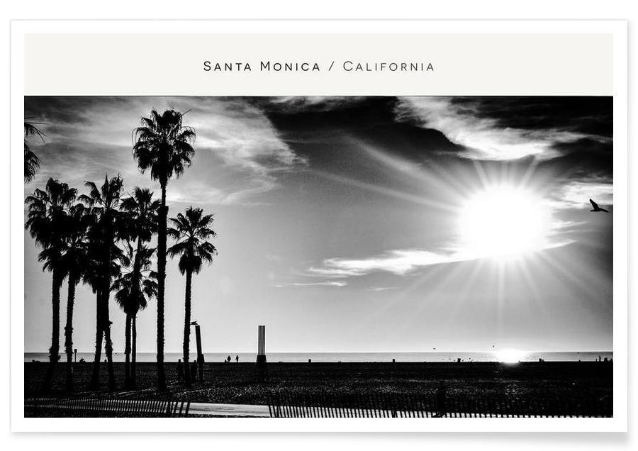 Santa Monica No. 1 B&W affiche
