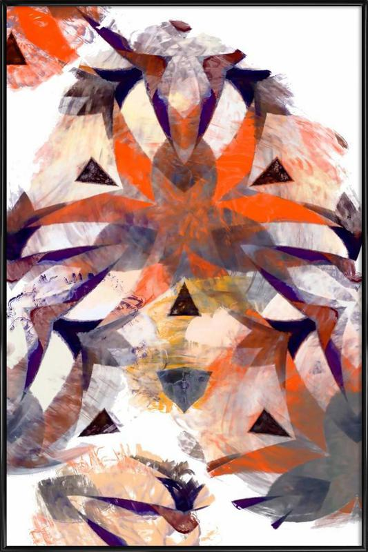 Abstract Sketch 4 Framed Poster