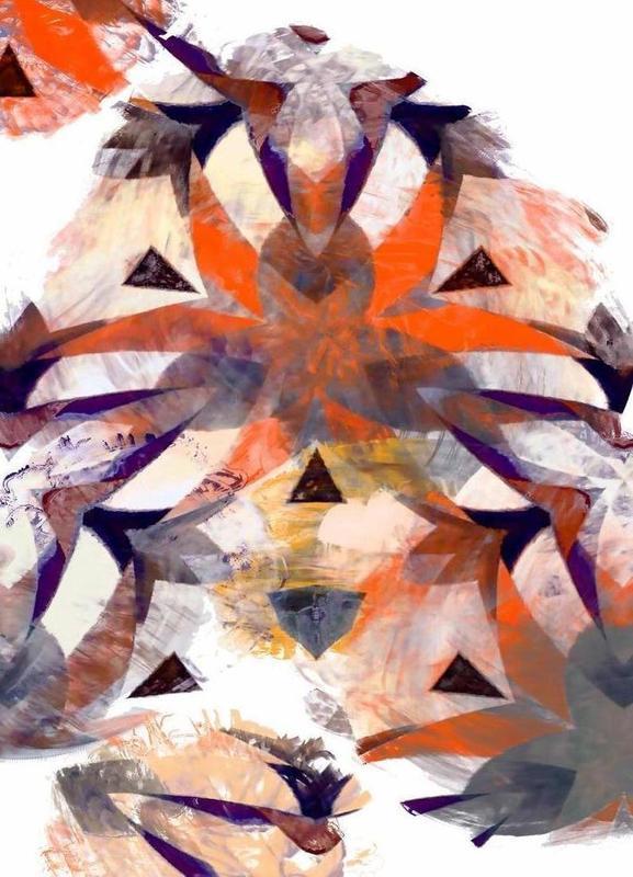 Abstract Sketch 4 canvas doek