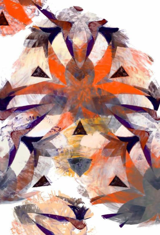 Abstract Sketch 4 alu dibond