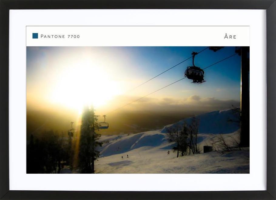 Åre Pantone 7700 -Bild mit Holzrahmen