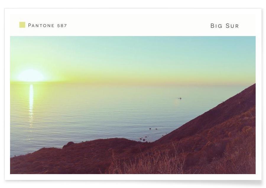 Océans, mers & lacs, Big Sur Pantone 587 affiche