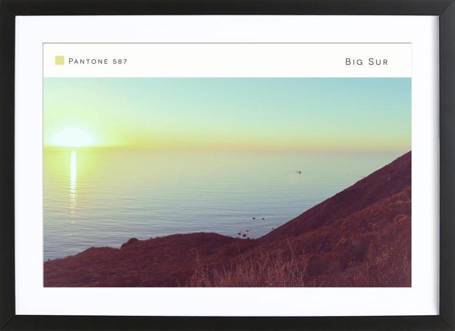 Big Sur Pantone 587 -Bild mit Holzrahmen
