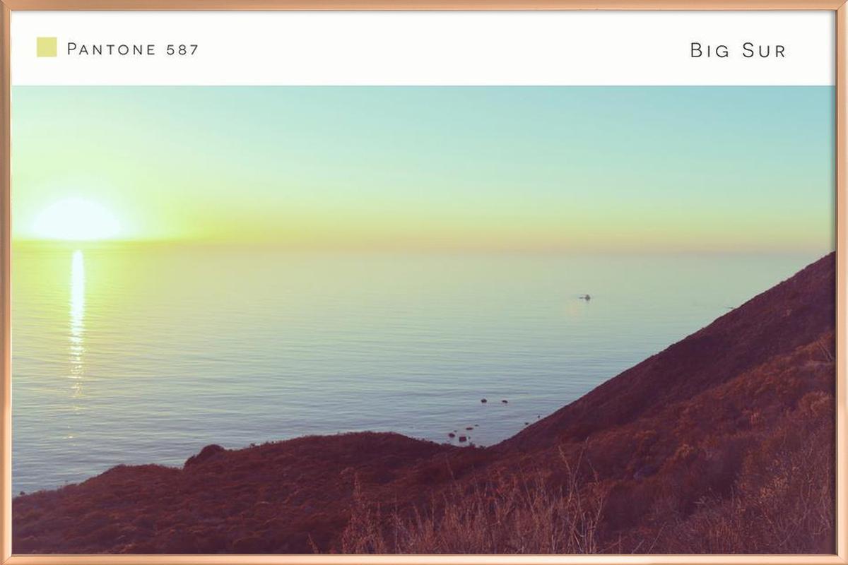 Big Sur Pantone 587 -Poster im Alurahmen