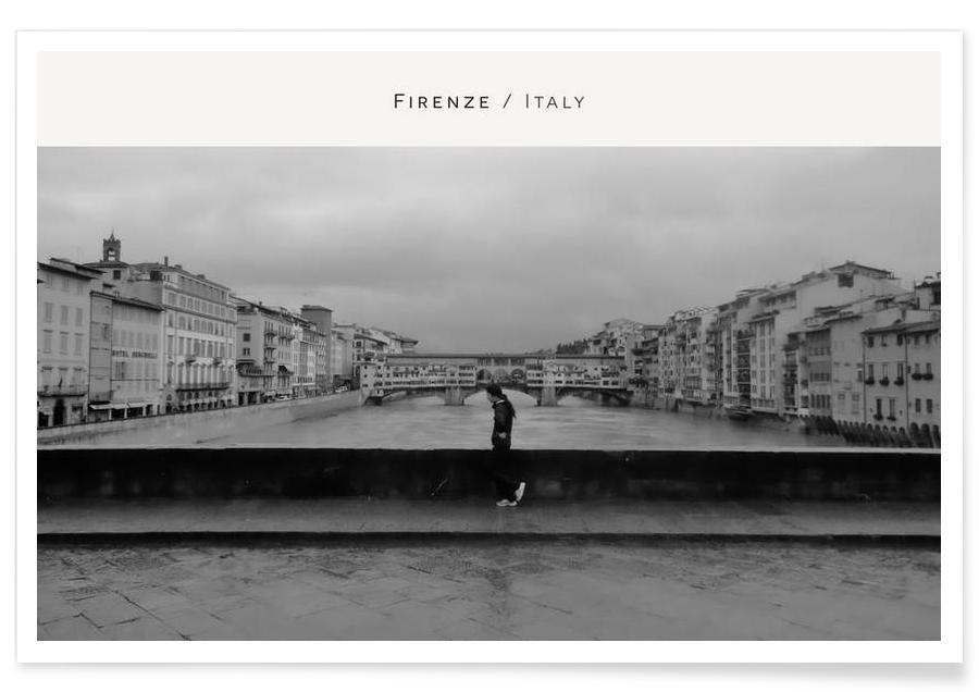 Noir & blanc, Firenze B&W affiche