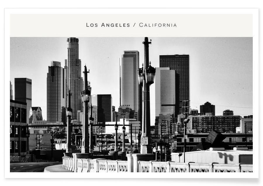 Noir & blanc, Skylines, Los Angeles, Los Angeles B&W affiche