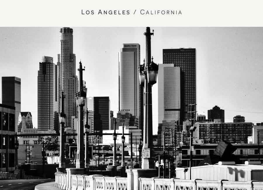Los Angeles B&W Canvas Print
