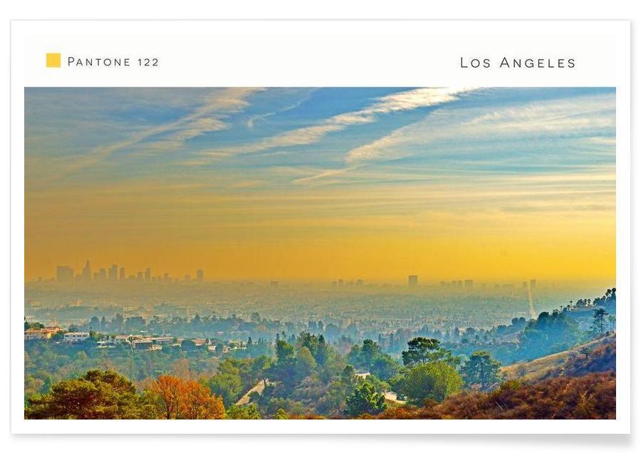 Los Angeles, Los Angeles Pantone 122 affiche