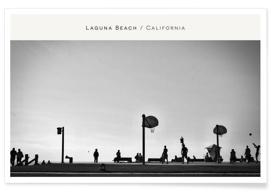 Beaches, Laguna Beach B&W Poster