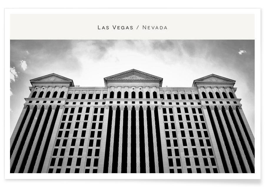 Monuments et vues, Las Vegas, Noir & blanc, Las Vegas B&W affiche