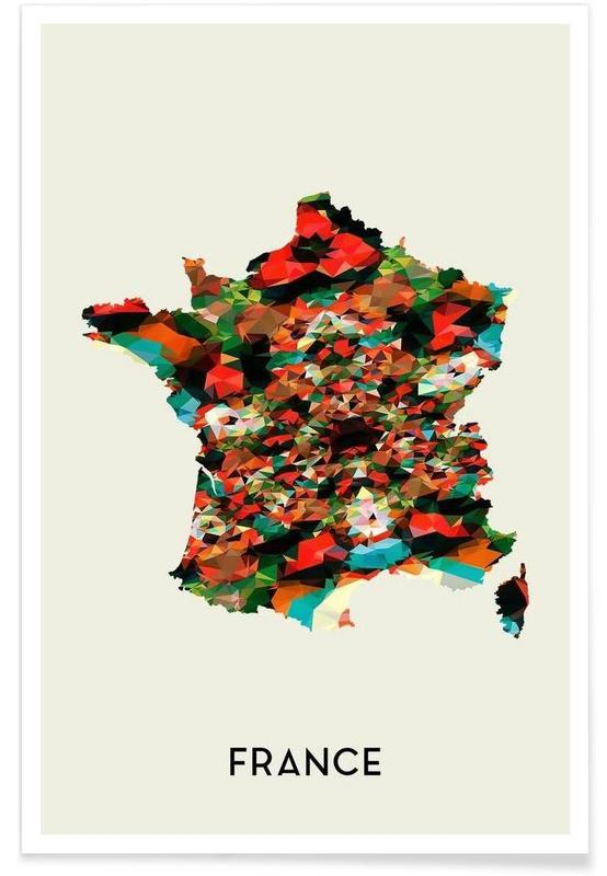 Cartes de pays, France affiche