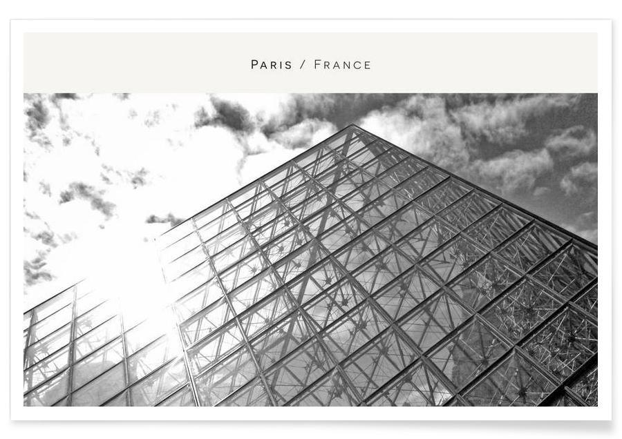 Paris, Monuments et vues, Noir & blanc, Paris B&W affiche