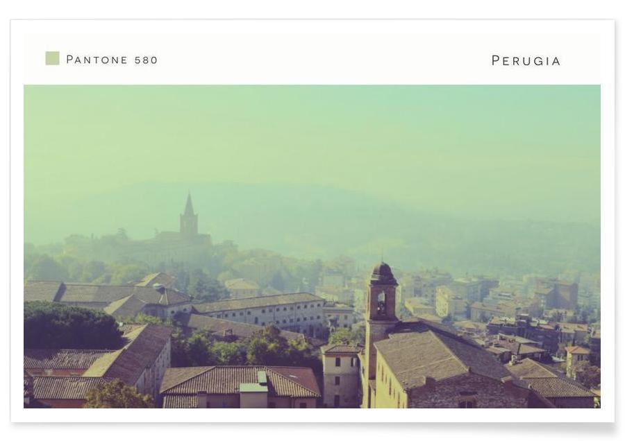 , Perugia Pantone 580 affiche